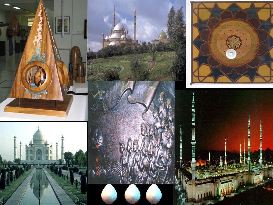Seni rupa (islam) Terfokus pada sosialisasi ajaran dan dakwah, terutama islam Bentuk dan hasil karya seni rupa islam mangandung unsur ataupun keislama