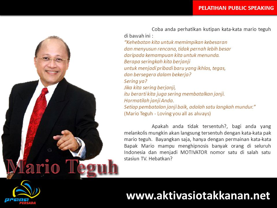 PELATIHAN PUBLIC SPEAKING KH.