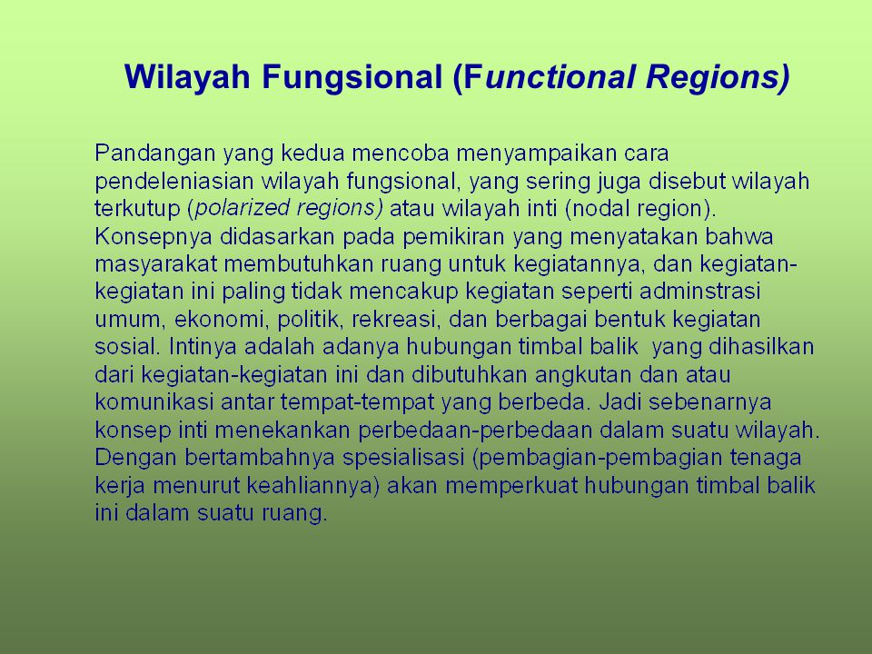 Wilayah Seragam (Homogeneous Regions)