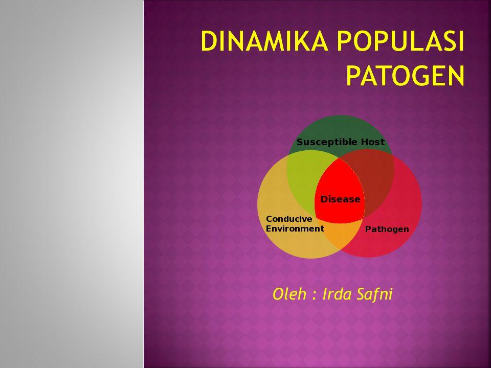 Skala waktu alami untuk perubahan populasi patogen diatur oleh generasi waktu patogen.
