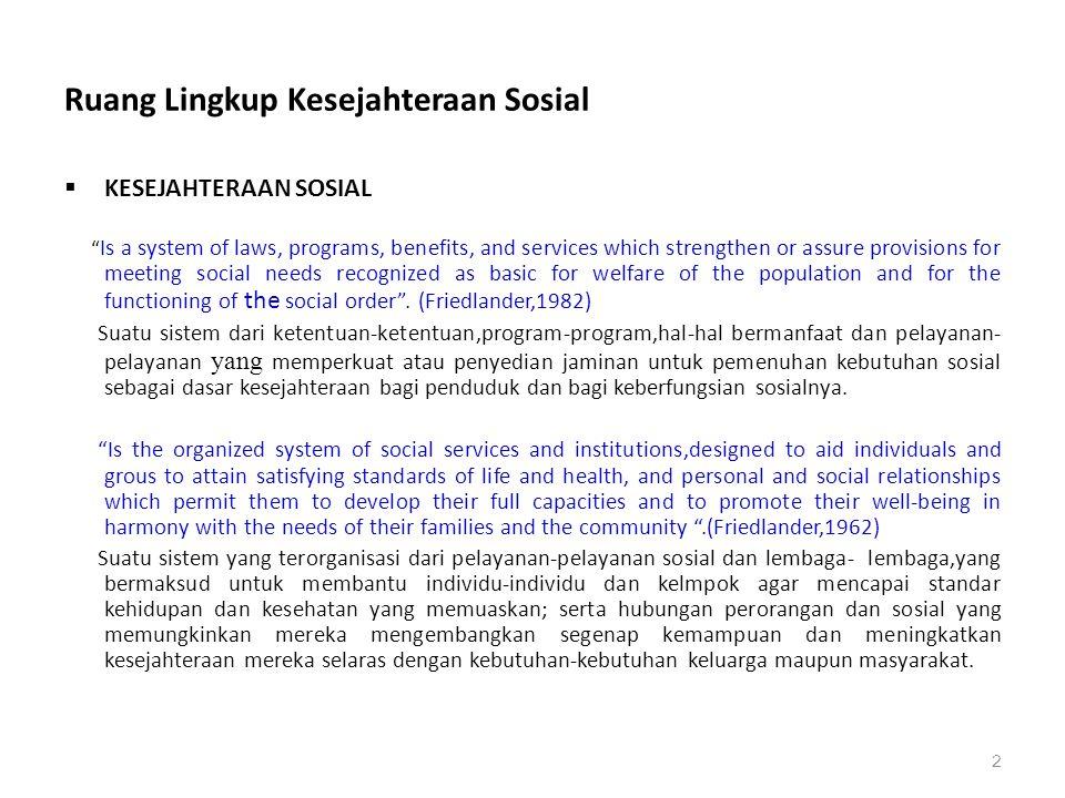 Kesimpulan Pekerjaan Sosial Pekejaan sosial merupakan kegiatan profesional.