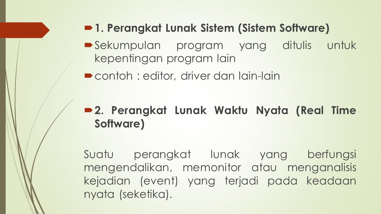 Referensi 1.Roger S.Pressman, Software Engineering, A Beginner ' s Guide, McGraw Hill, 1998.