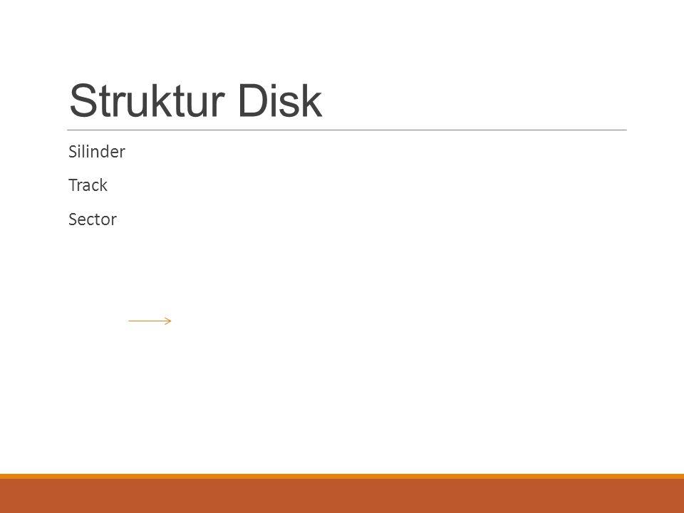 Struktur Disk Silinder Track Sector