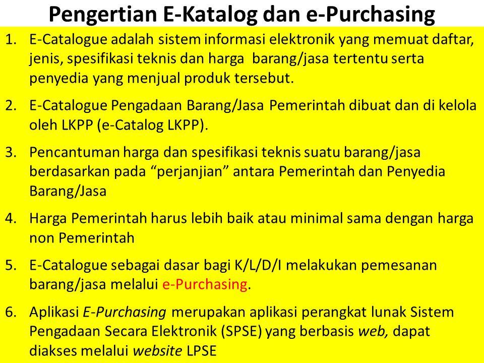 Pengertian E-Katalog dan e-Purchasing
