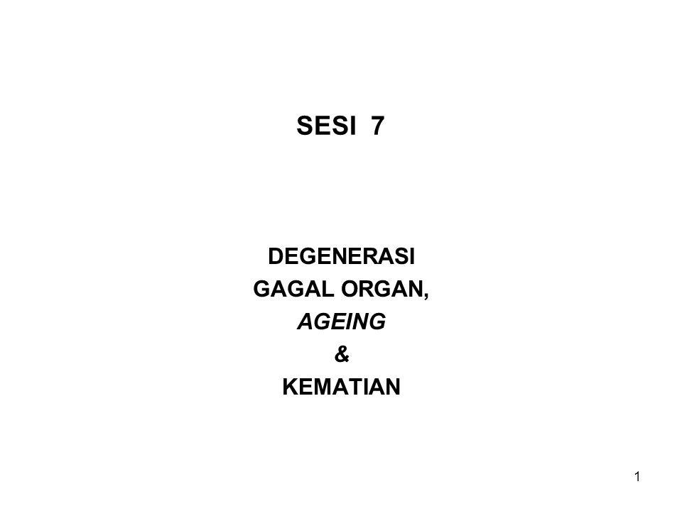 1 SESI 7 DEGENERASI GAGAL ORGAN, AGEING & KEMATIAN