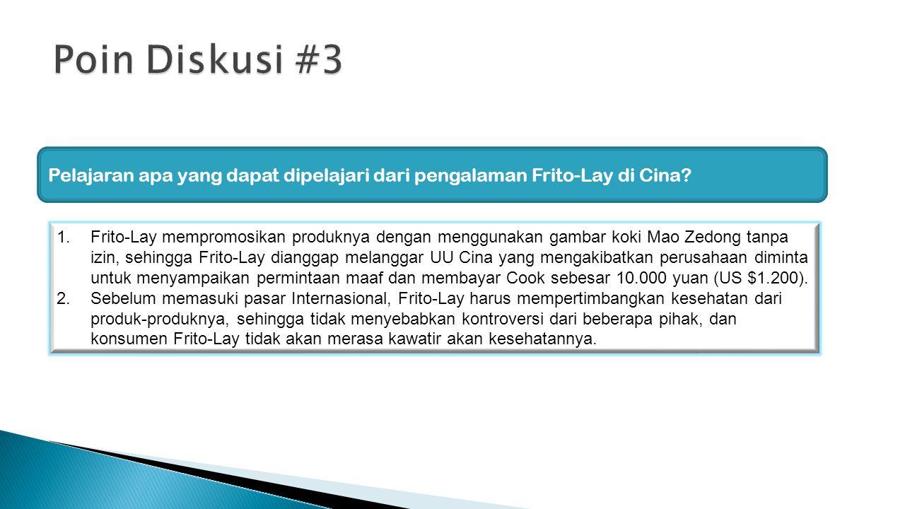 Pelajaran apa yang dapat dipelajari dari pengalaman Frito-Lay di Cina.