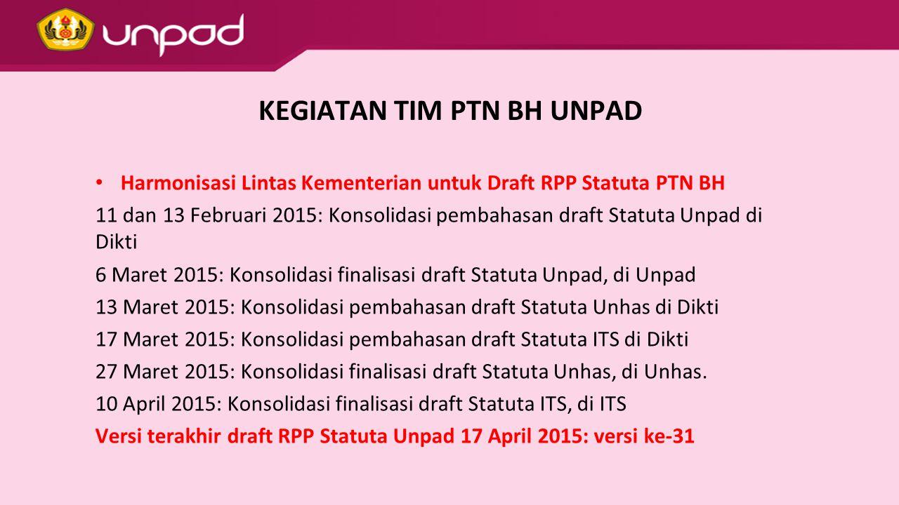 SUBSTANSI STATUTA Ketenagaan Pegawai Non-PNS pada PTN BH dengan hak dan kewajiban setara PNS, pendanaan dari pemerintah.