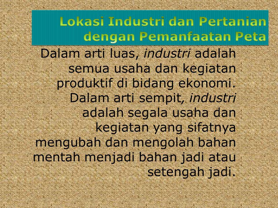 Dalam arti luas, industri adalah semua usaha dan kegiatan produktif di bidang ekonomi.
