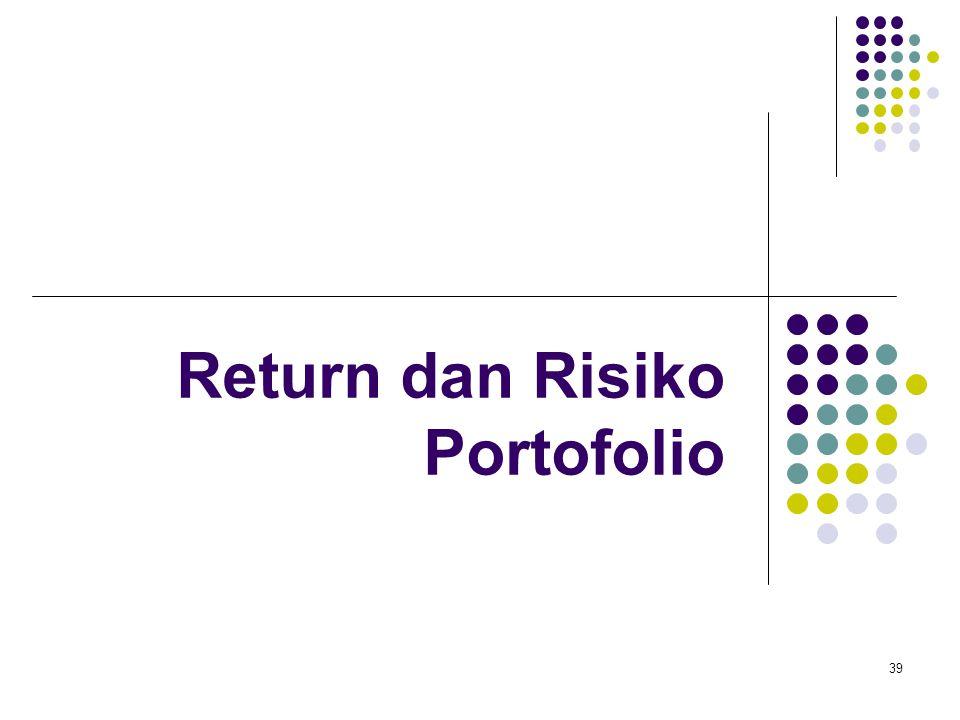 39 Return dan Risiko Portofolio