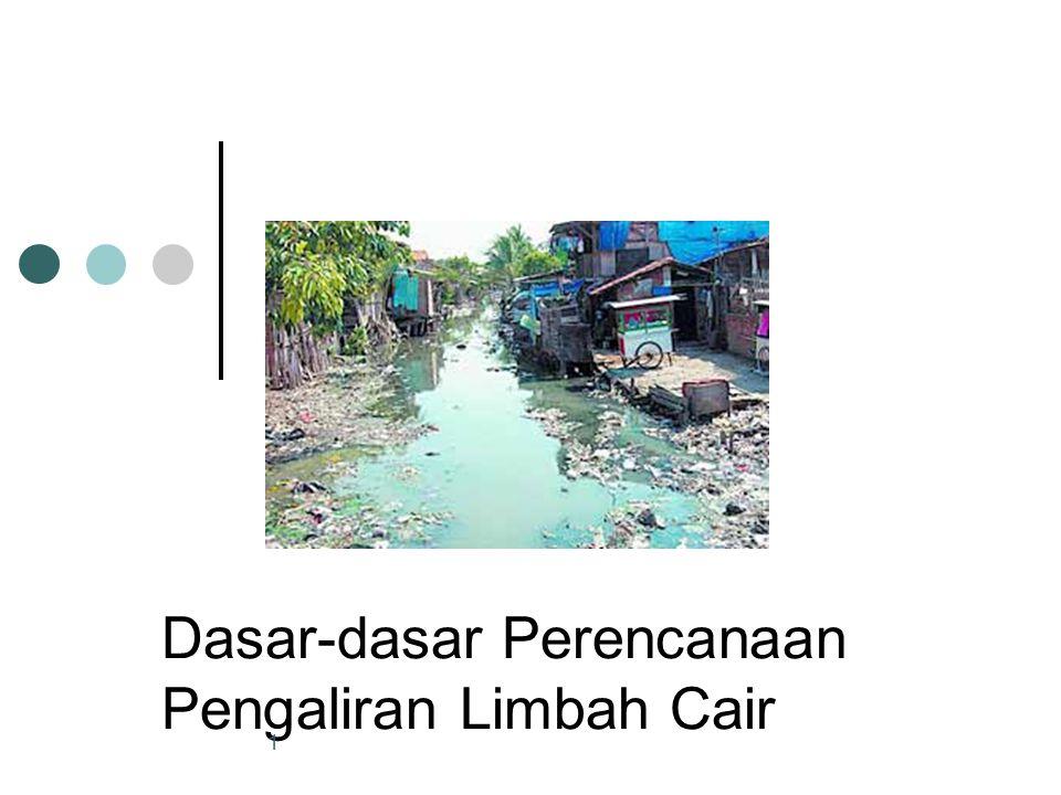 Perhitungan dimensi saluran terbuka untuk air limbah Saluran air limbah ada pula yang berbentuk saluran terbuka, perencanaannya dapat disesuaikan dengan cara hidrolika saluran terbuka.