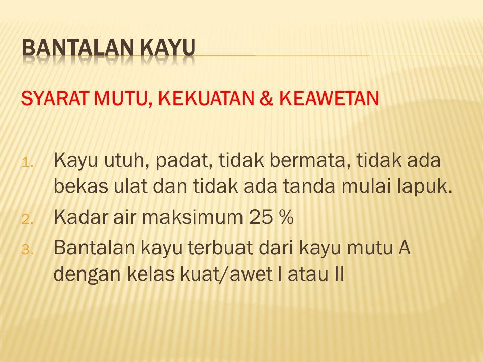 SYARAT MUTU, KEKUATAN & KEAWETAN 1.