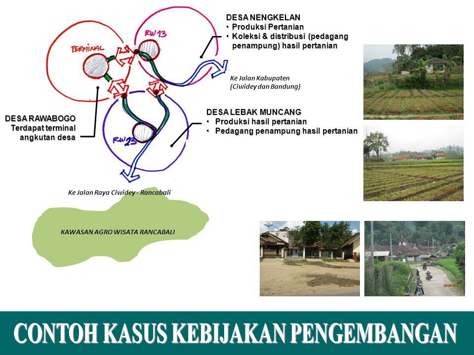 10 KAWASAN AGRO WISATA RANCABALI Ke Jalan Kabupaten (Ciwidey dan Bandung) Ke Jalan Raya Ciwidey - Rancabali DESA NENGKELAN Produksi PertanianProduksi