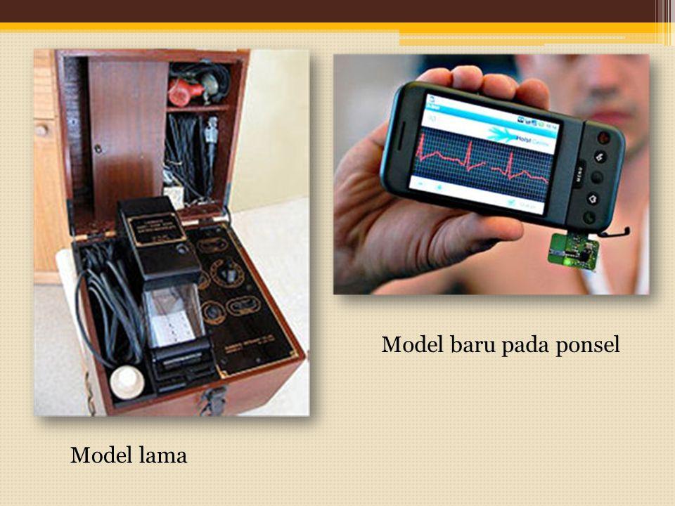 Model lama Model baru pada ponsel