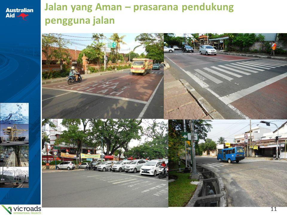 11 Jalan yang Aman – prasarana pendukung pengguna jalan