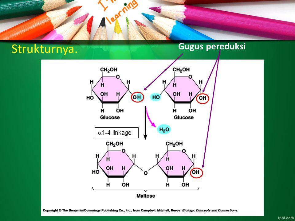 Strukturnya. Gugus pereduksi  1-4 linkage