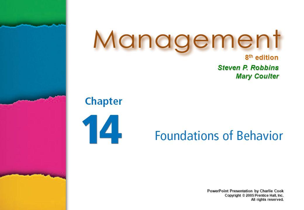 14–2 Memahami Perilaku Individu Tujuan Menjelaskan, memprediksi, mempengaruhi perilaku Perilaku Organisasi (PO) Tindakan orang di tempat kerja Fokus PO 1.