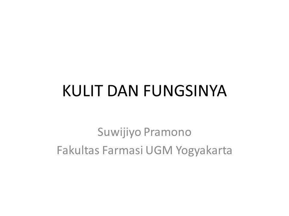 KULIT DAN FUNGSINYA Suwijiyo Pramono Fakultas Farmasi UGM Yogyakarta