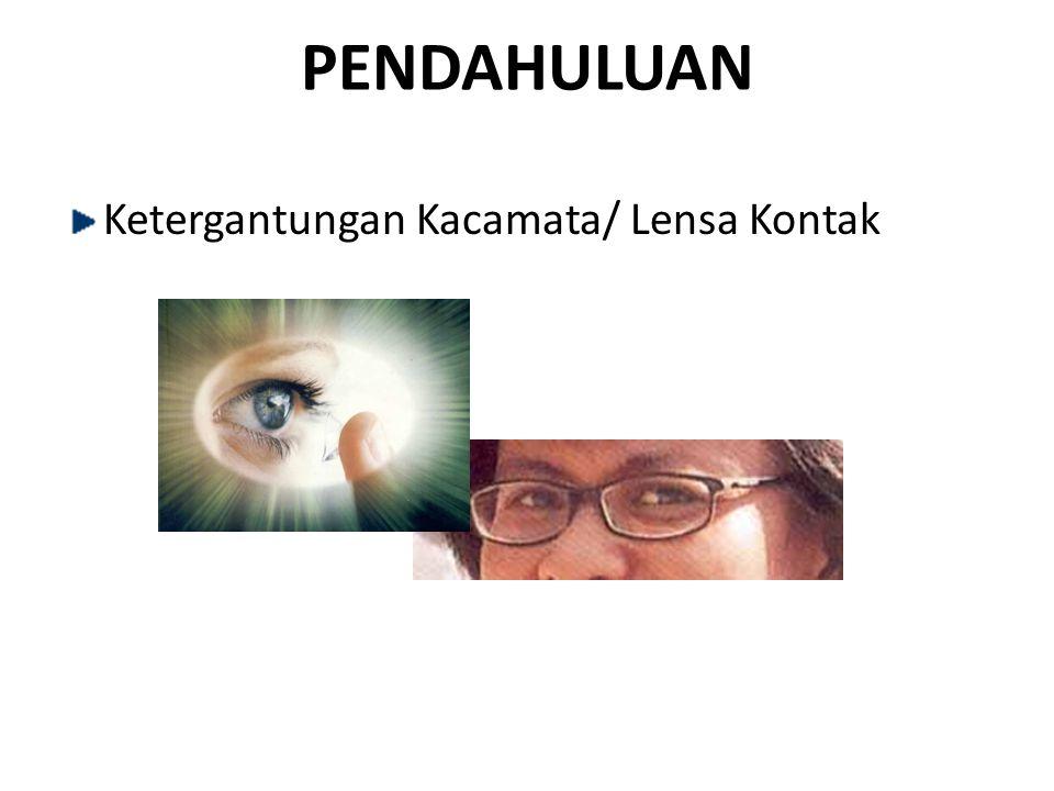 PENDAHULUAN Ketergantungan Kacamata/ Lensa Kontak