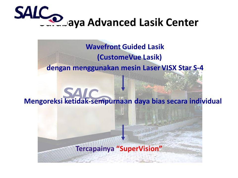 Surabaya Advanced Lasik Center Wavefront Guided Lasik (CustomeVue Lasik) dengan menggunakan mesin Laser VISX Star S-4 Mengoreksi ketidak-sempurnaan da
