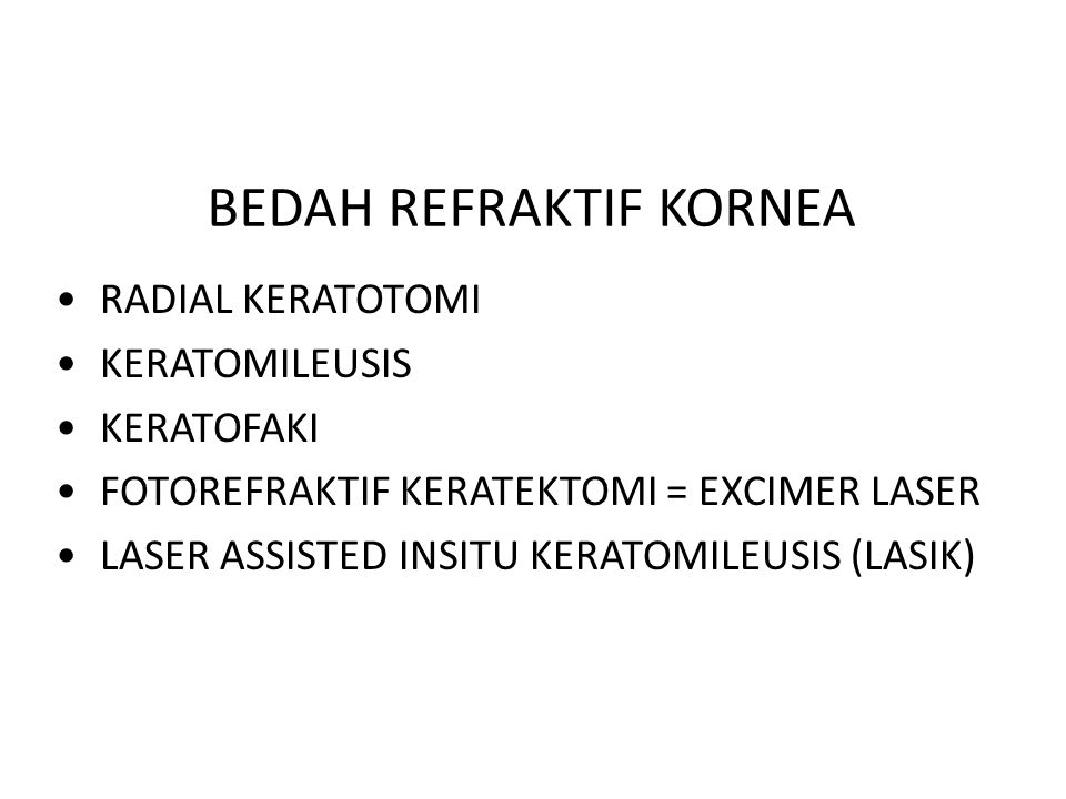 TEKNIK PHOTO REFRAKTIF KERATEKTOMI