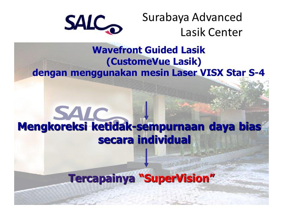 Surabaya Advanced Lasik Center Wavefront Guided Lasik (CustomeVue Lasik) dengan menggunakan mesin Laser VISX Star S-4 Mengkoreksi ketidak-sempurnaan d