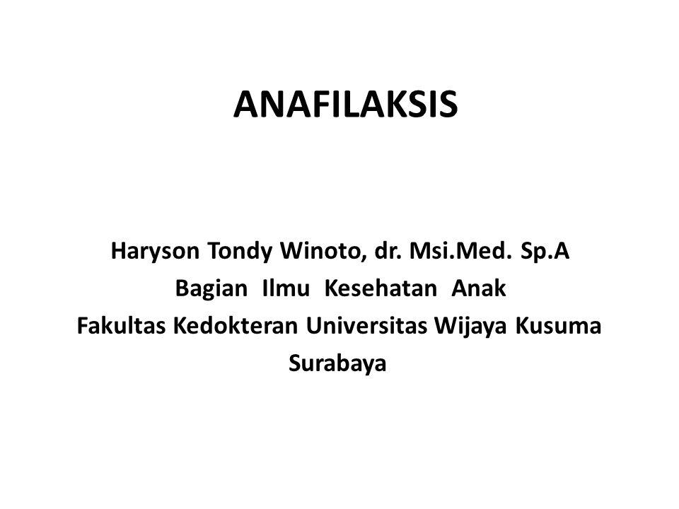 ANAFILAKSIS Haryson Tondy Winoto, dr. Msi.Med.