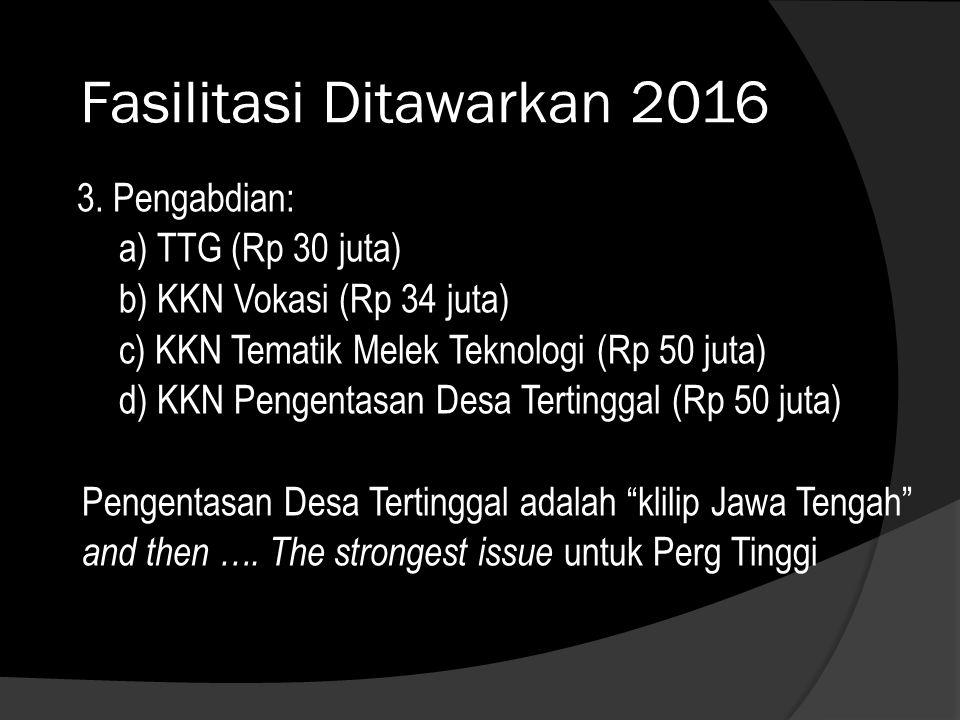Fasilitasi Ditawarkan 2016 3.
