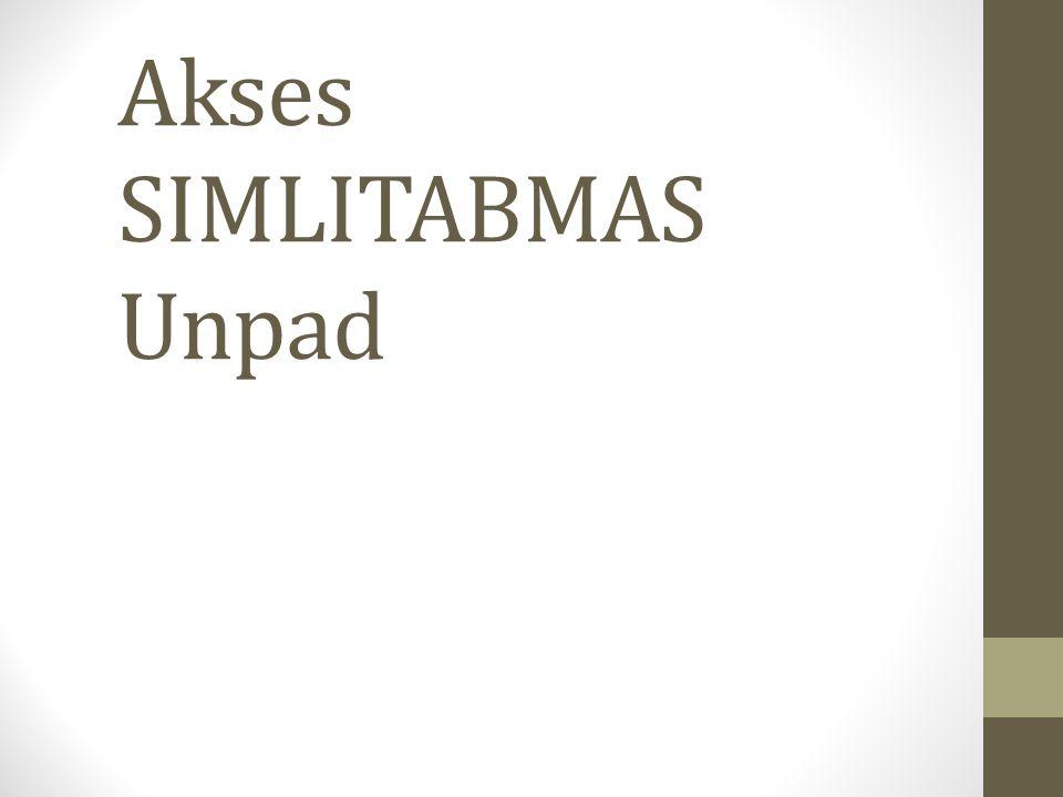 Akses SIMLITABMAS Unpad