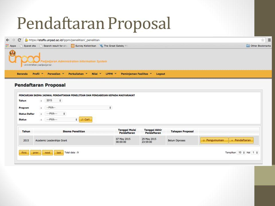 Pendaftaran Proposal