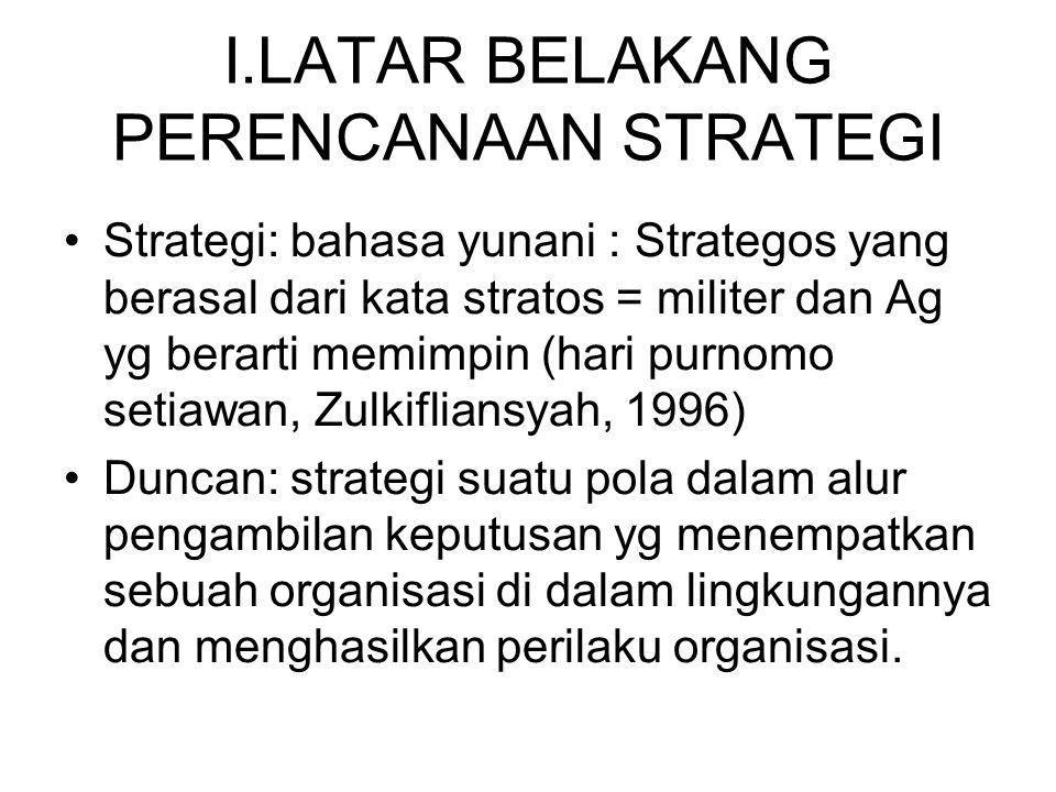 MENUJU PERENCANAAN STRATEGIS Perencanaan Strategis dan Perencanaan Operasional.