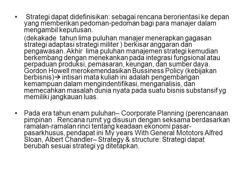 Perencanaan strategis: sebuah alat manajemen, alat itu hanya digunakan untuk satu maksud saja.