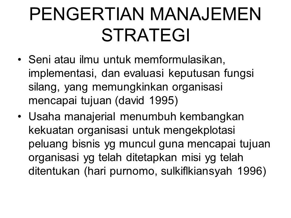 Keputusan strategis & keputusan Operasional Keputusan Strategis -Fundamental, memberi arah -Cakrwala perencanaan jangka panjang -Terfokus ke masa depan Keputusan Operasional -Berorientasi pelaksanaan -Cakrawala perencanaan jangka pendek (setahun atau kurang) -Funsional dan terfokus pada masa sekarang