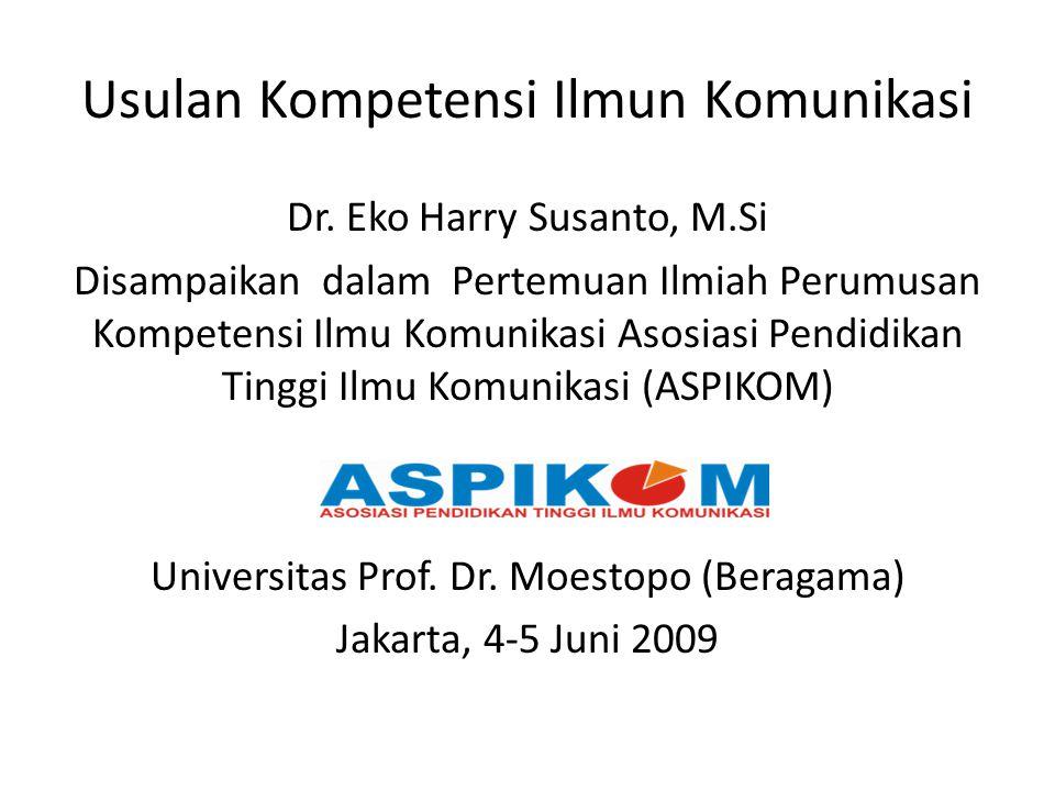 Usulan Kompetensi Ilmun Komunikasi Dr.