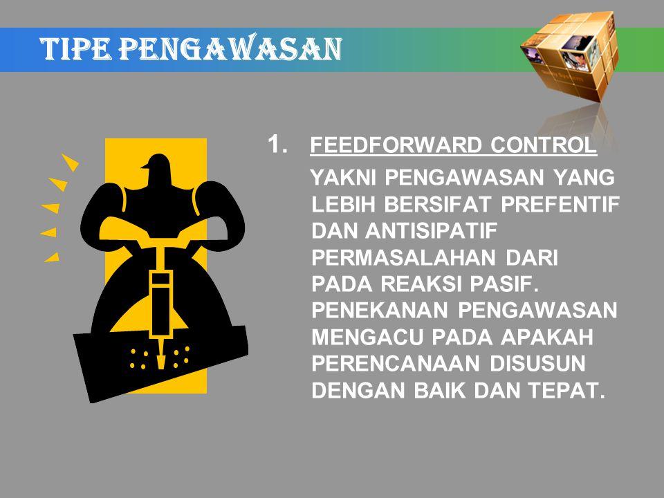 TIPE PENGAWASAN 1.