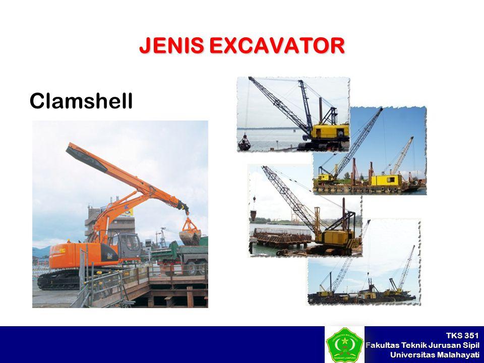 TKS 351 Fakultas Teknik Jurusan Sipil Universitas Malahayati JENIS EXCAVATOR Clamshell