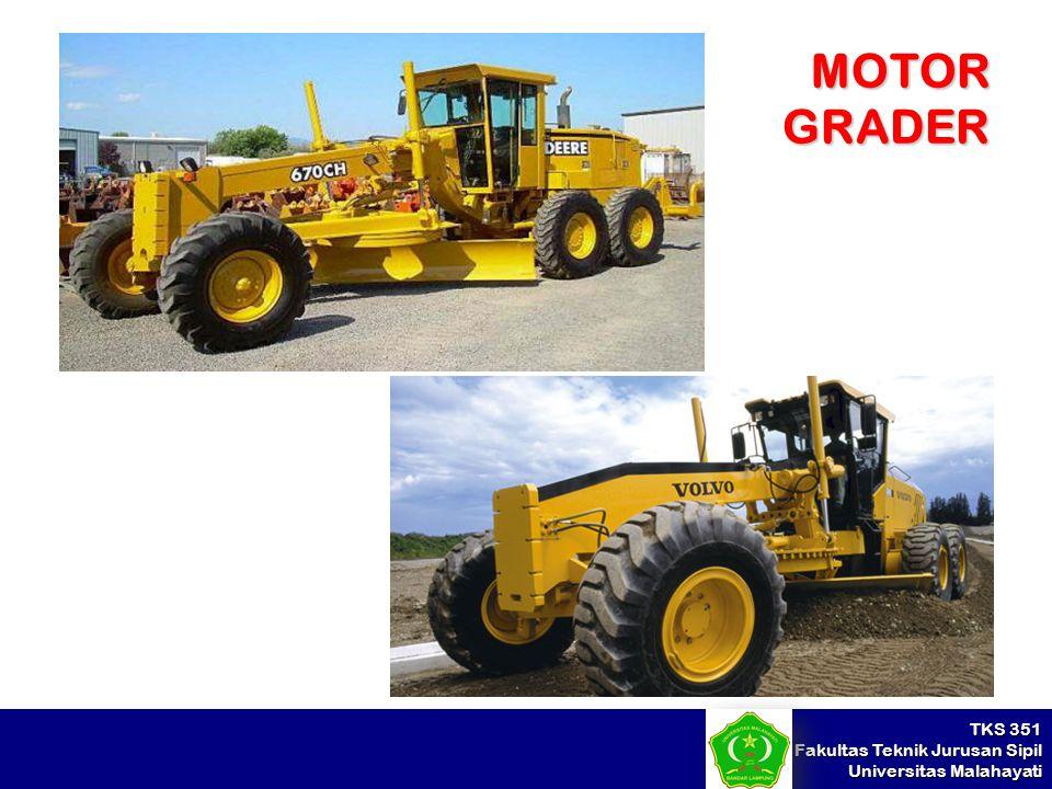 TKS 351 Fakultas Teknik Jurusan Sipil Universitas Malahayati MOTOR GRADER