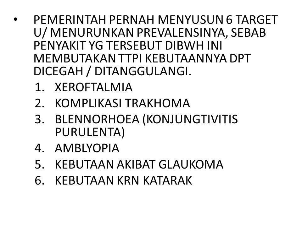 TAMPAKNYA XEROFTALMIA DI INDONESIA TIDAK MERATA.