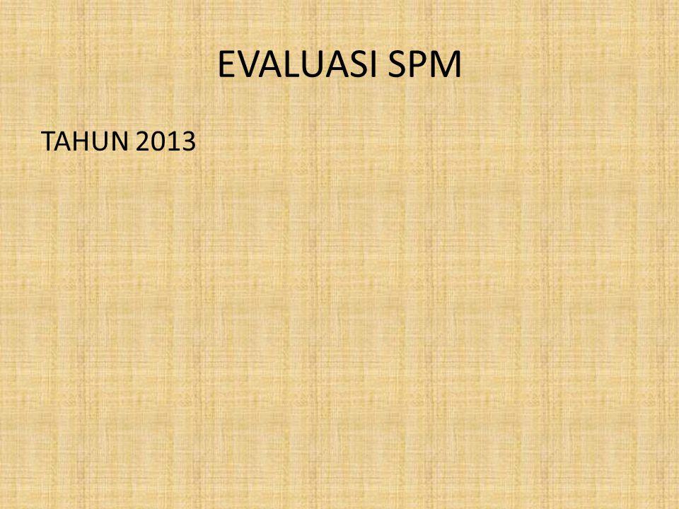 EVALUASI SPM TAHUN 2013