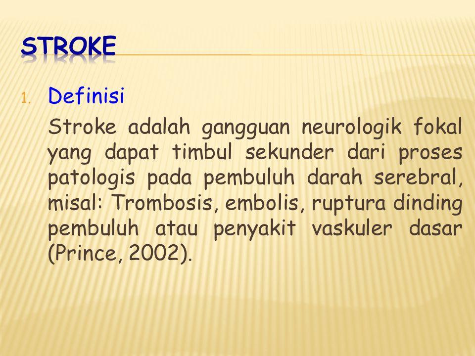 2. Etiologi a. Trombosis Serebri b. Embolisme