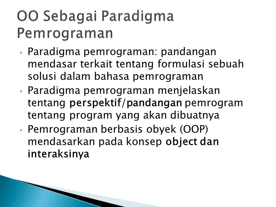 Paradigma pemrograman: pandangan mendasar terkait tentang formulasi sebuah solusi dalam bahasa pemrograman Paradigma pemrograman menjelaskan tentang p