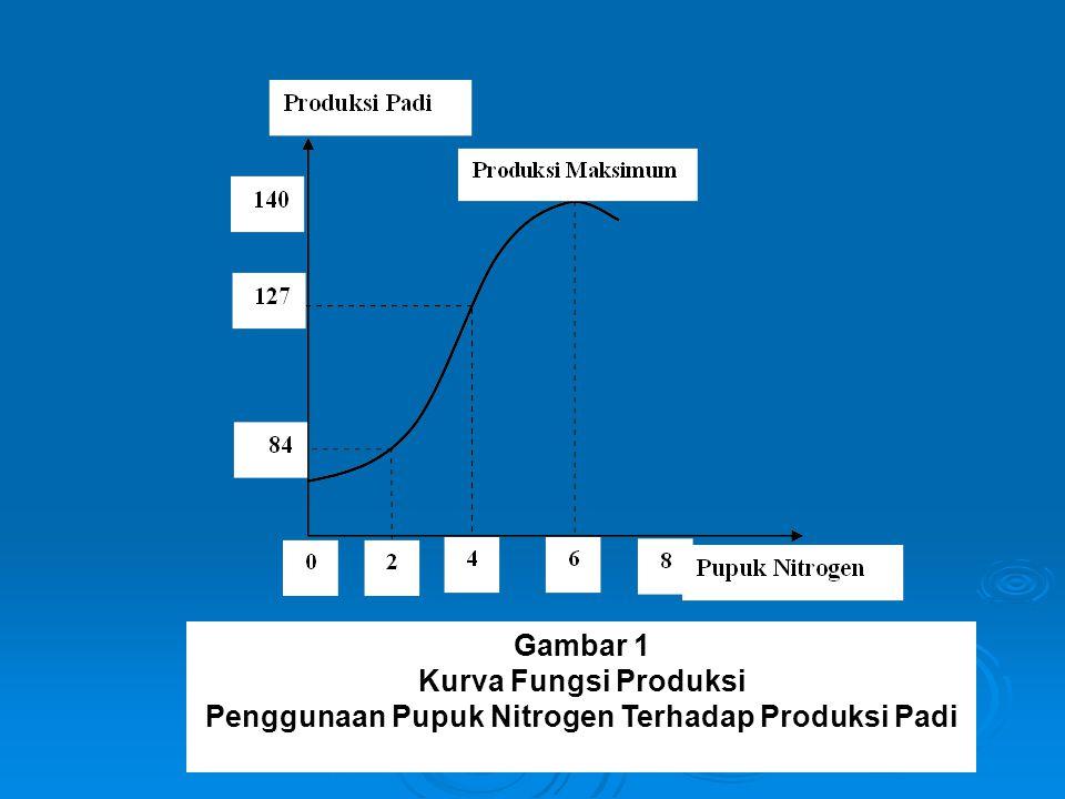 Pada kondisi dimana nilai η = 1 ini, disebut sebagai kondisi 'efisiensi teknis'.