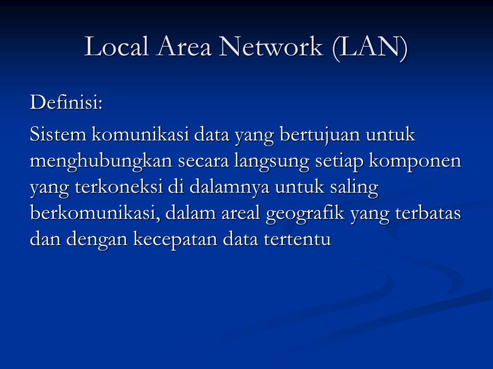 Topologi Fisik Wired LAN (5) HUB/TREE HUB/TREE Hub : variasi dari tipe bus dan ring.