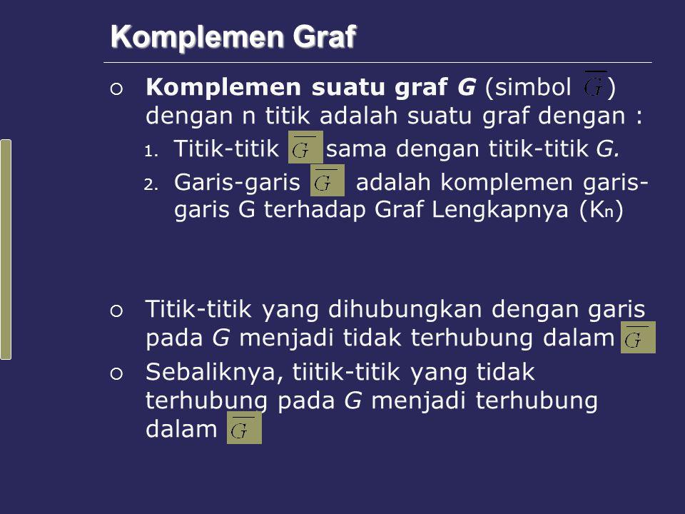 Sub Graf  Misalkan G adalah graf.Graf H dikatakan subgraf dari G bila dan hanya bila : 1.