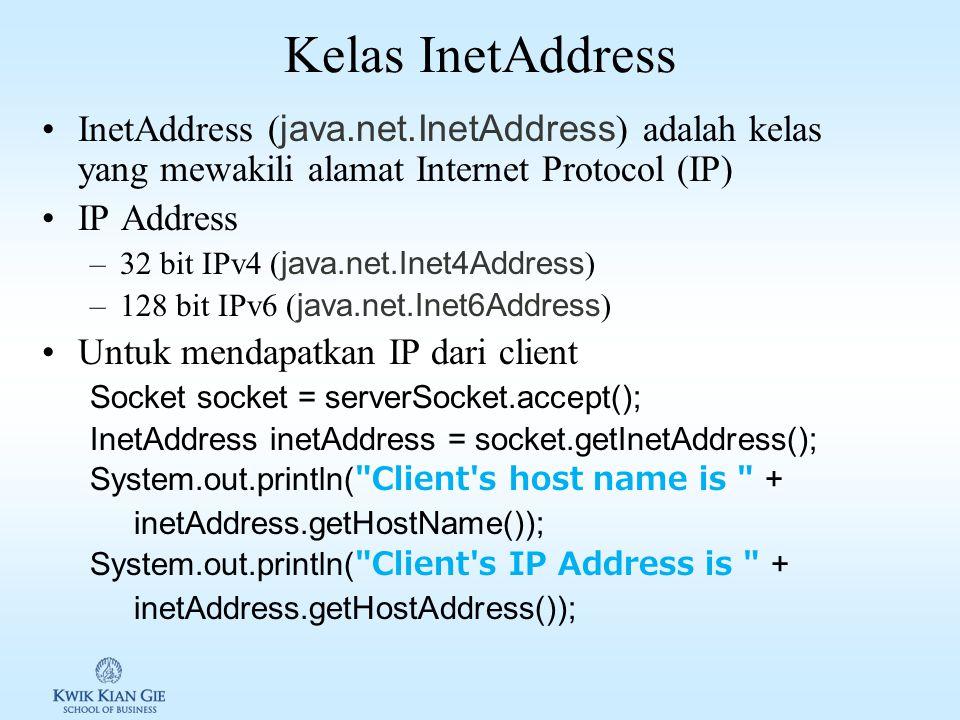 Aliran data Server & Client LISTING 31.1 Server.java page 1143 LISTING 31.2 Client.java page 1145