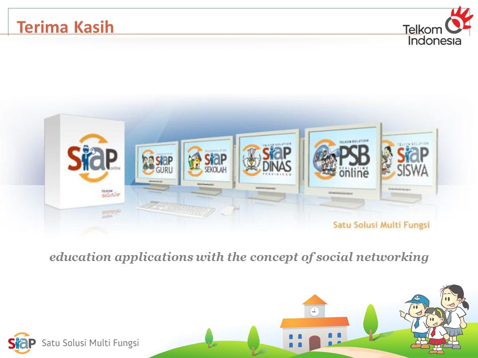 Terima Kasih education applications with the concept of social networking