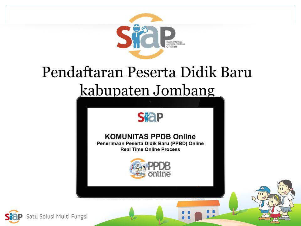 Pendaftaran Peserta Didik Baru kabupaten Jombang