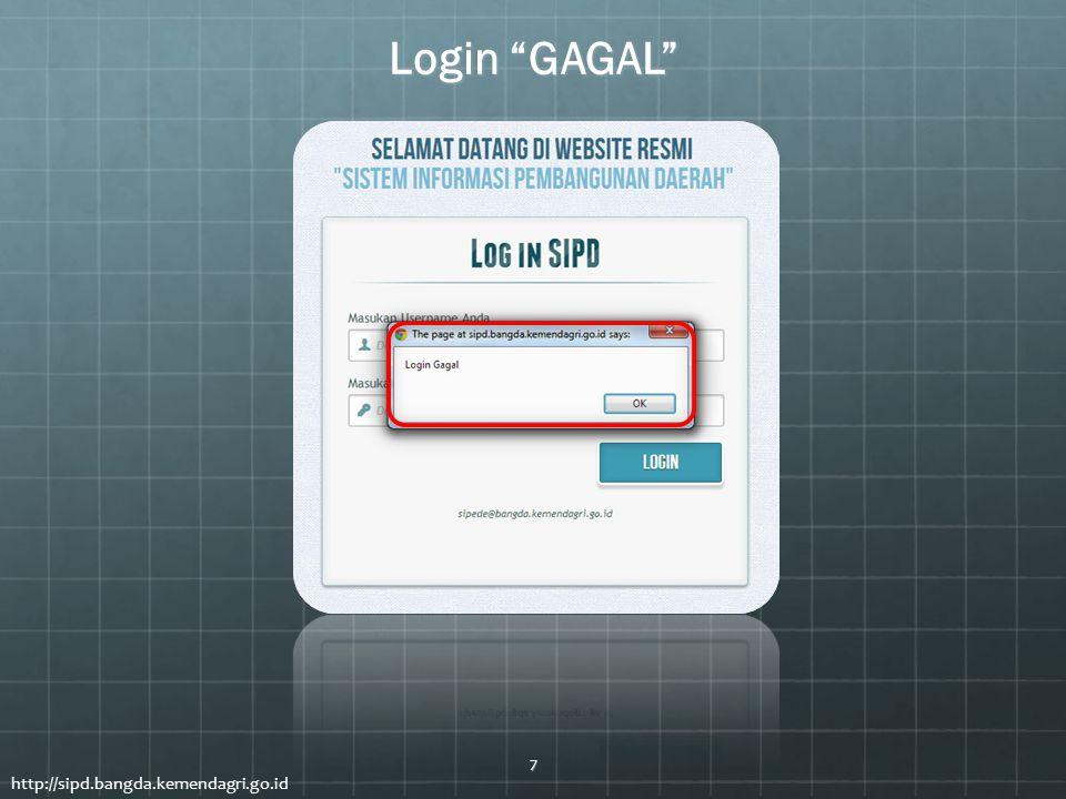 """Login """"GAGAL"""" 7"""
