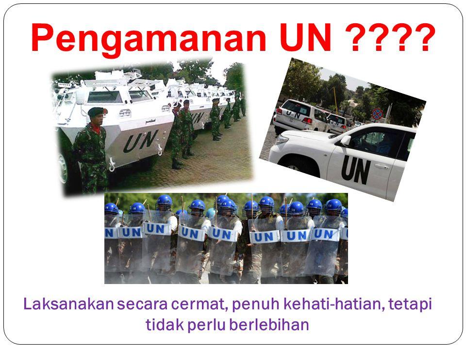 Pengamanan UN ???? Laksanakan secara cermat, penuh kehati-hatian, tetapi tidak perlu berlebihan