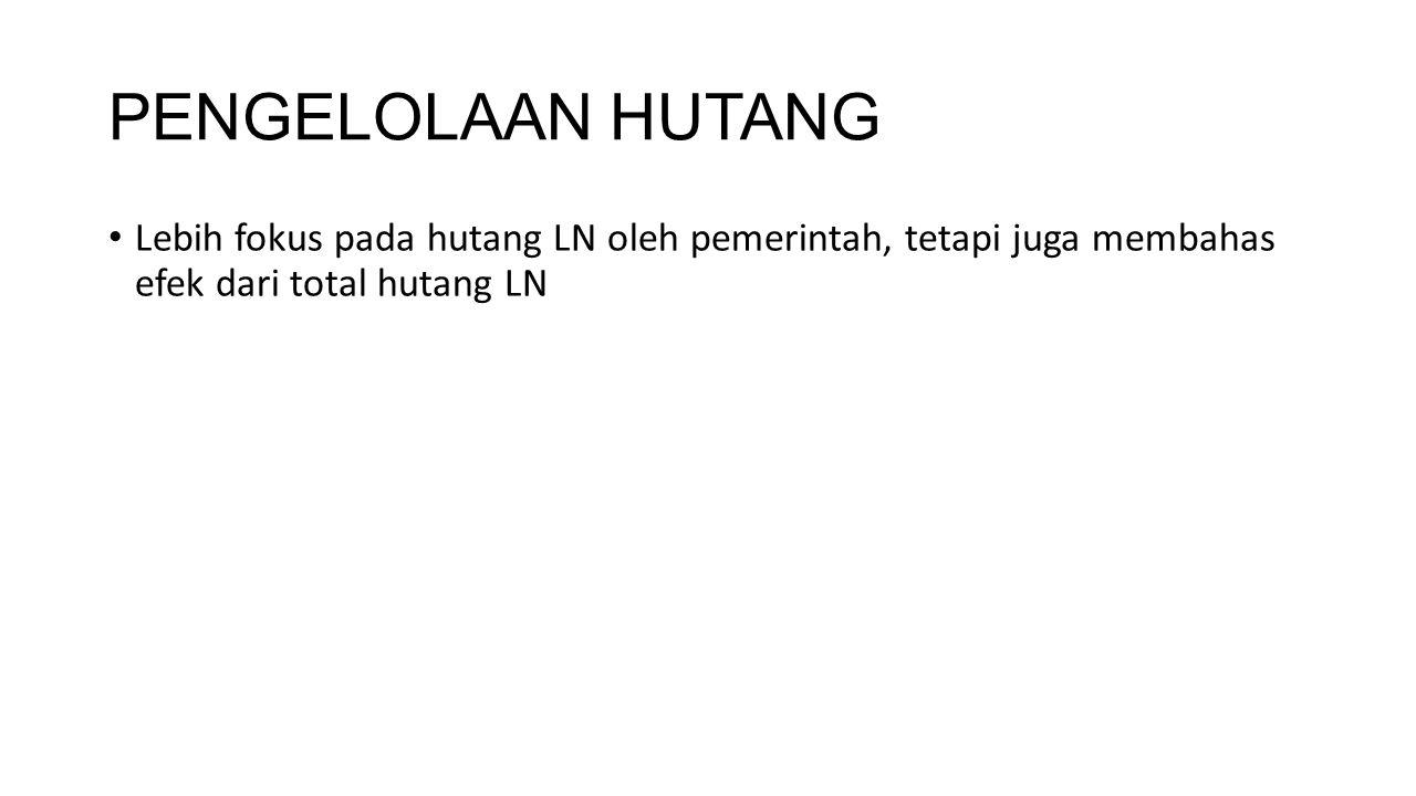 KEGIATAN HUTANG BANK INDONESIA: UNTUK NERACA PERDAGANGAN DAN MENJAGA DEVISA; UTANG KEPADA PIHAK BUKAN PENDUDUK YANG TELAH MENEMPATKAN DANANYA PADA SERTIFIKAT BANK INDONESIA (SBI), DAN UTANG DALAM BENTUK KAS DAN SIMPANAN SERTA KEWAJIBAN LAINNYA KEPADA BUKAN PENDUDUK.