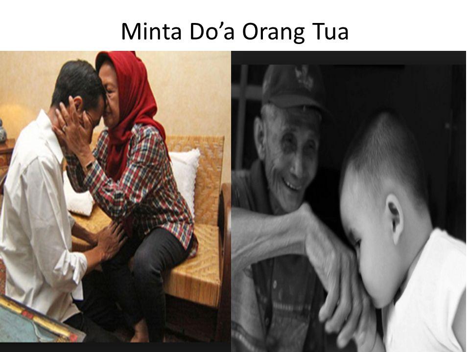 Minta Do'a Orang Tua